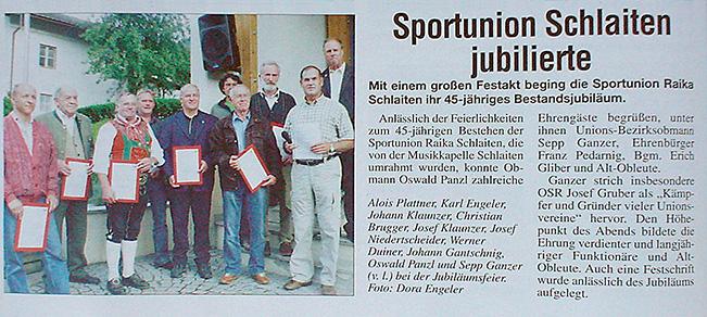 Bericht im Osttiroler Boten vom 23.08.2009